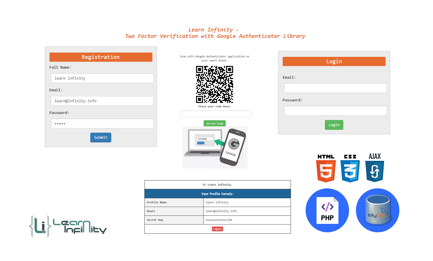 Two-Factor Verification utilizing Google Authenticator Library