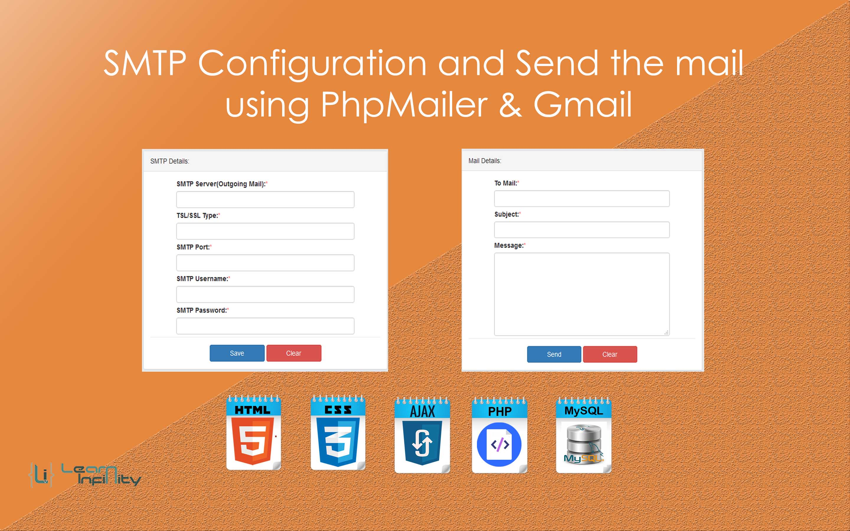 SMTP Configuration and Send the mail using PhpMailer & Gmail