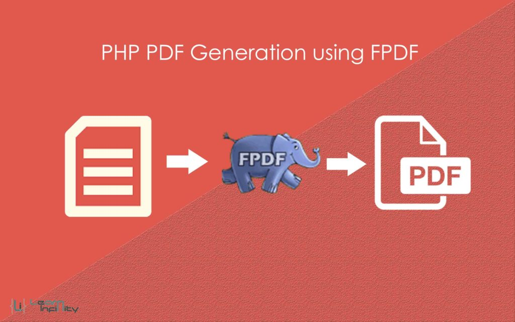 PDF Generation using FPDF in PHP ~ Learn Infinity