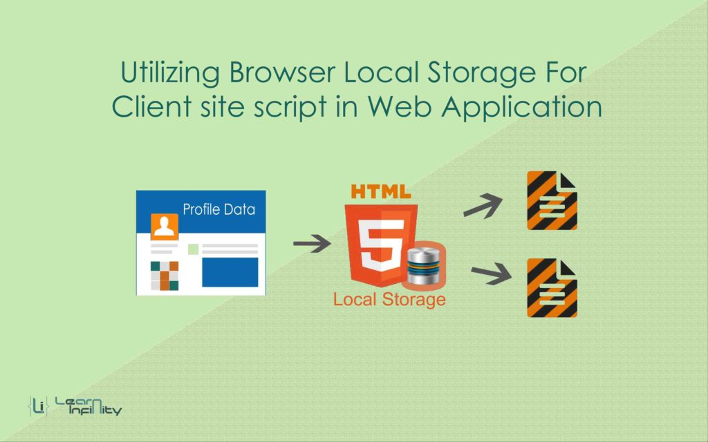 Utilizing browser local storage for client site script in any web application