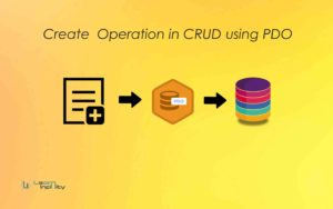 Create Operation in CRUD using PDO