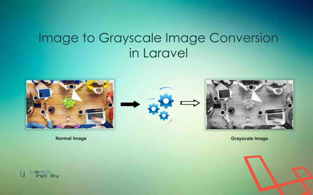 Image to Grayscale Image Conversion in Laravel