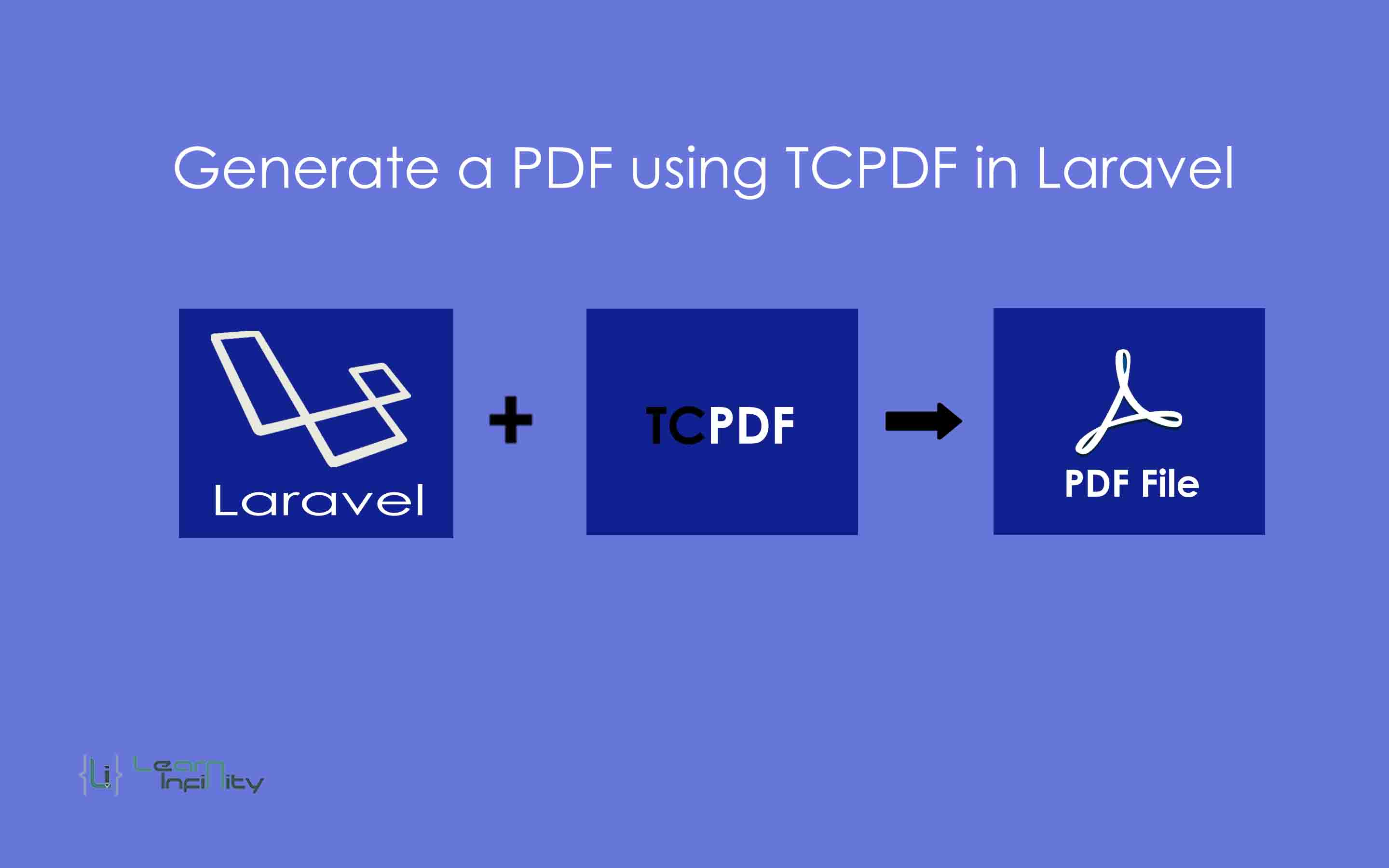 Generate a PDF using TCPDF in laravel