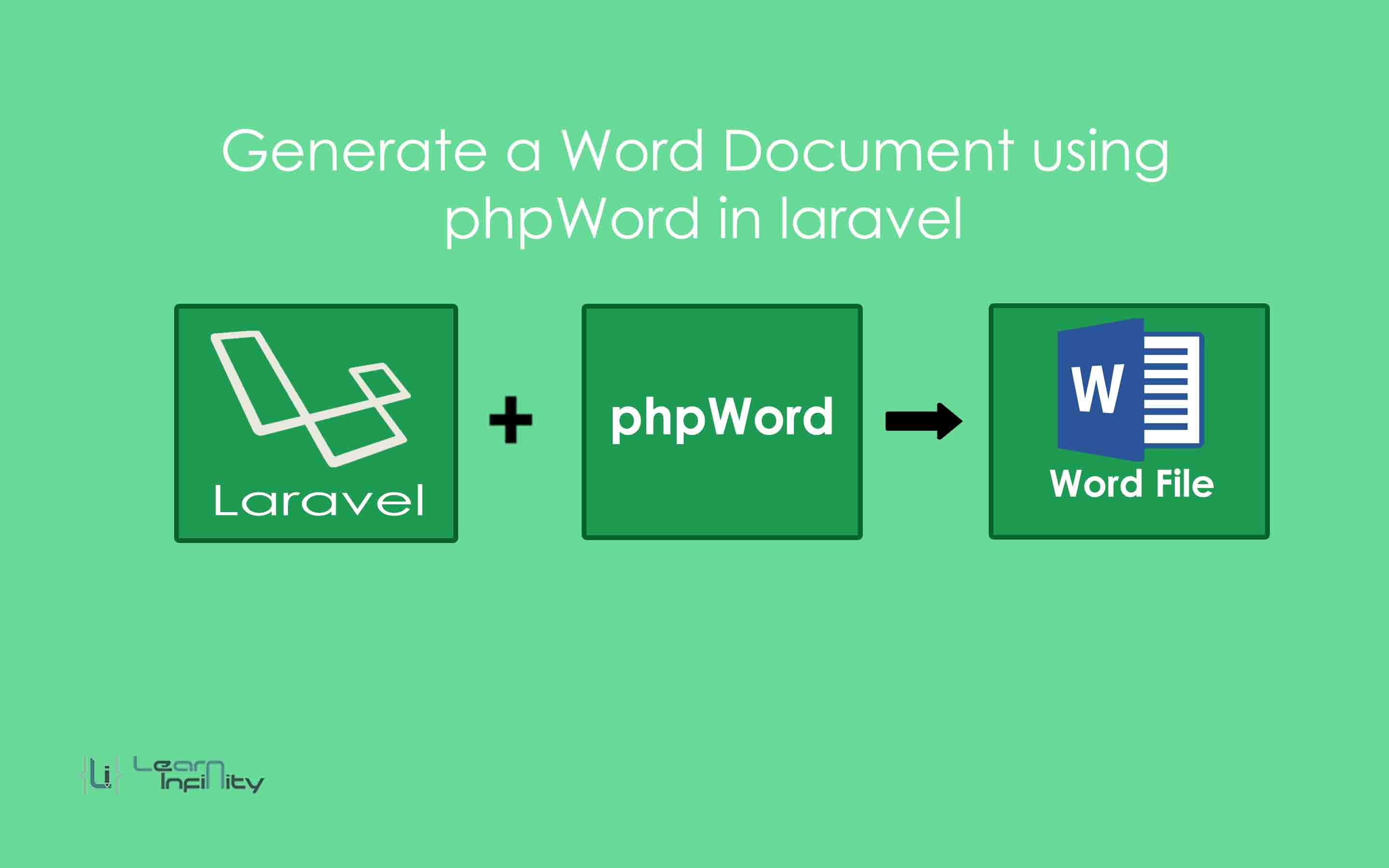 Generate a Word Document using phpWord in Laravel