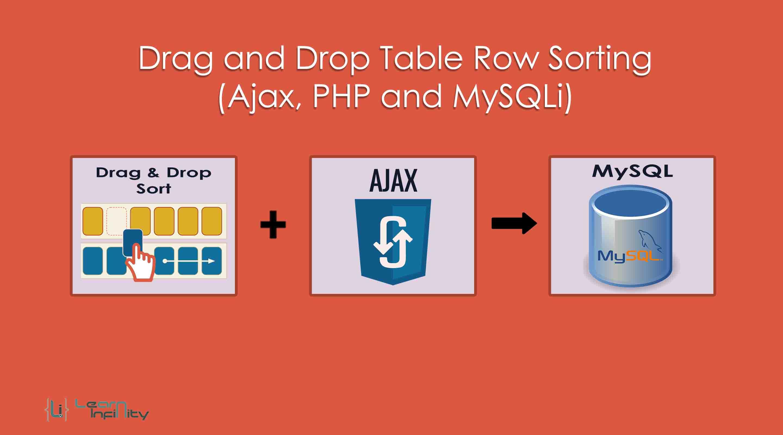 Drag and Drop Table Row Sorting (Ajax, PHP and MySQLi)