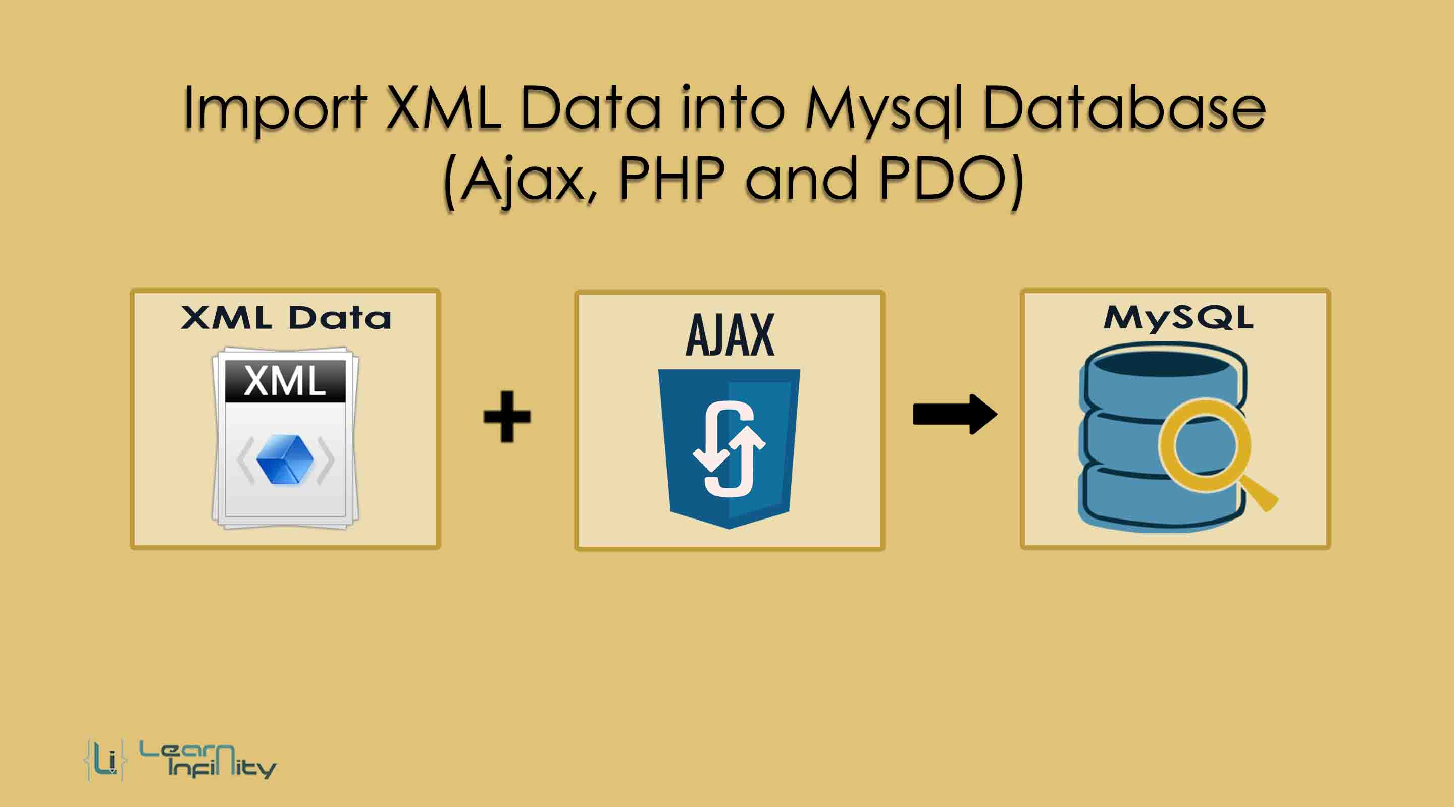 Import XML Data into Mysql Database (Ajax, PHP & PDO) ~ Learn Infinity