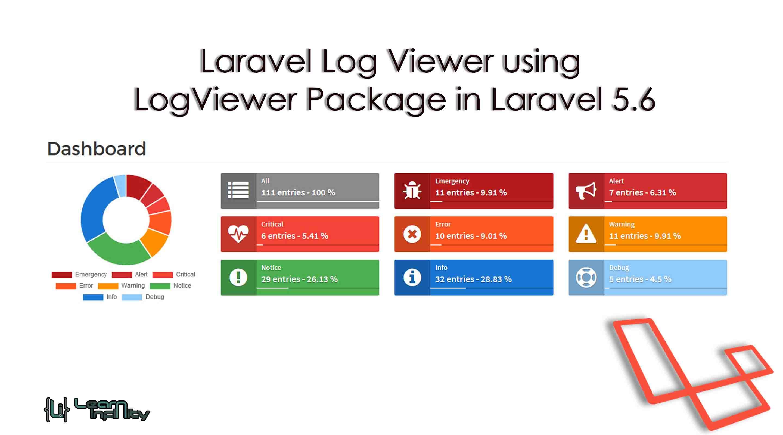 Laravel Log Viewer using LogViewer Package in Laravel 5.6
